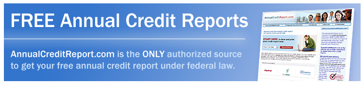 Free Annual Credit Reports. AnnualCreditReport.com is the ONLY authorized source to get your free annual credit report under federal law.